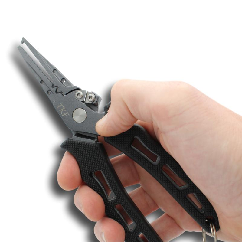 TKF FPL5 Stainless Steel Fishing Pliers in hand