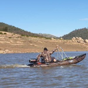 Inflatable Boat on water