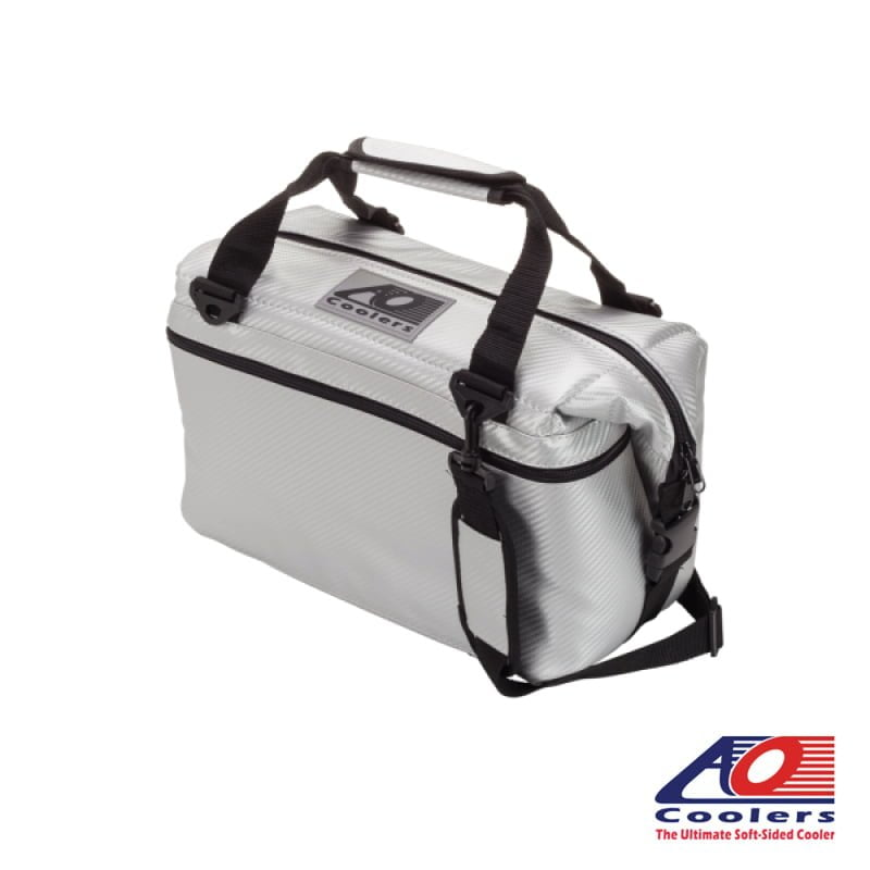 12 Can AO Coolers Carbon Cooler Bag