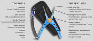 TKF FPL8 Aluminium Fishing Pliers Product Features