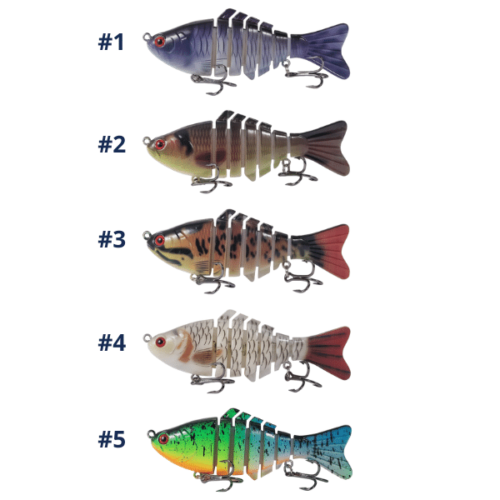 TKF Multi-Joint Swimbait Colours