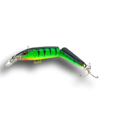 Multi-Jointed Minnow Lure Green Tiger 2